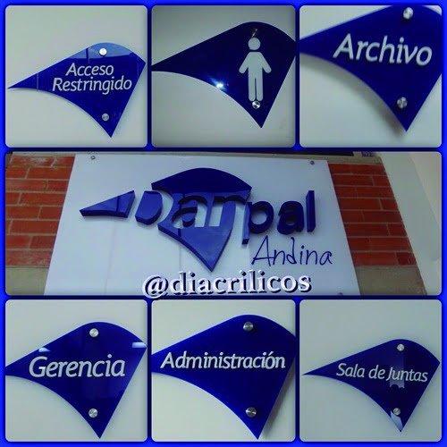 Etiqueta Alt: Señalización con Acrílicos Bogotá, Diacrílicos.