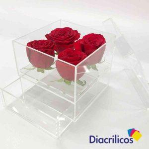 Caja Rosas x 4