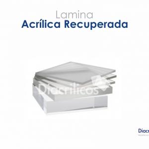 Lamina De Acrílico Recuperado- Pack 6 Und 40 X 45cm X 10mm
