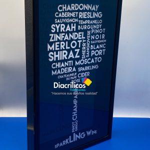 Caja de exhibición en acrílico para corchos de vino