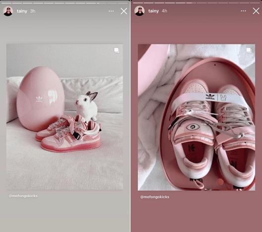 Etiqueta alt: Zapatos Adidas huevos de pascua - Diacrílicos